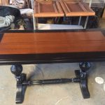 Coffee Table With Light Wood In Middle