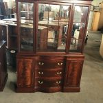 Large Cabinet With Glass Doors And Drawers