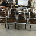 Metal And Wood Chairs Set