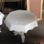 Old Fashioned White End Table