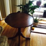 Brown Wood Oval Kitchen Table