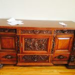 Tv Table Stand With Carved Pattern