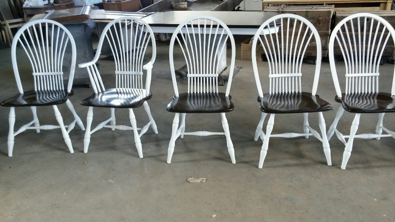 White Chairs Sitting In Row